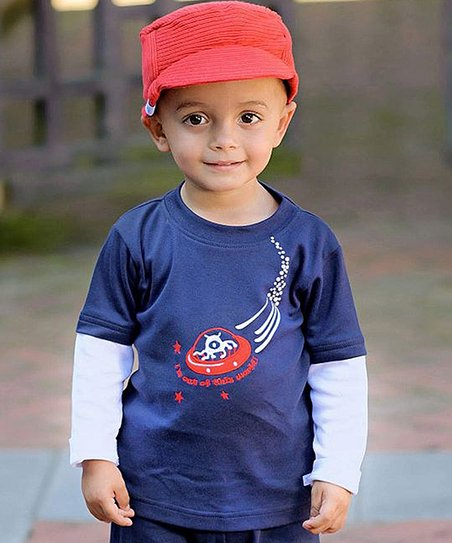 Navy Space Layered Tee - Infant, Toddler & Boys
