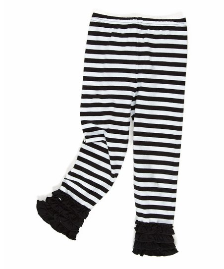 Black & White Stripe Parisian Leggings - Toddler & Girls