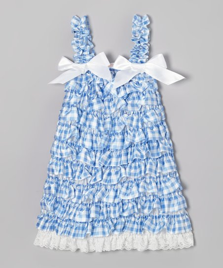 Blue Gingham Ruffle Dress - Infant, Toddler & Girls