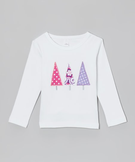 White Polka Dot Christmas Tree Tee - Infant, Toddler & Kids