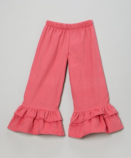 Pink Corduroy Ruffle Pants - Infant, Toddler & Girls
