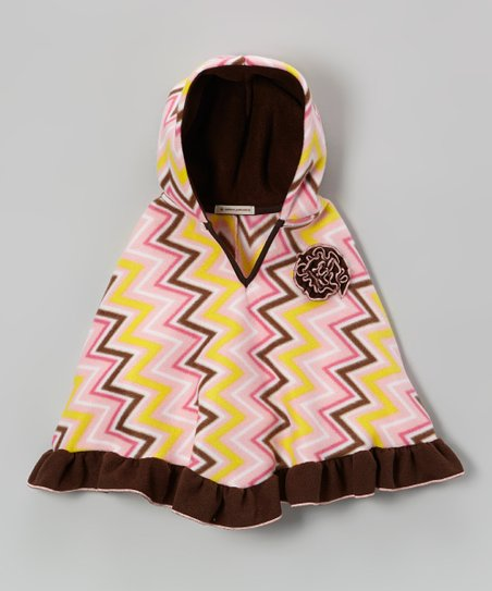Pink Sugar & Spice Zigzag Poncho - Infant, Toddler & Girls