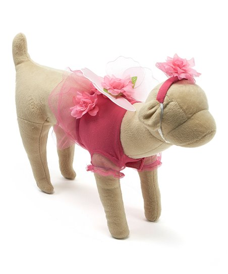 Pink Flower Fairy Pet Costume