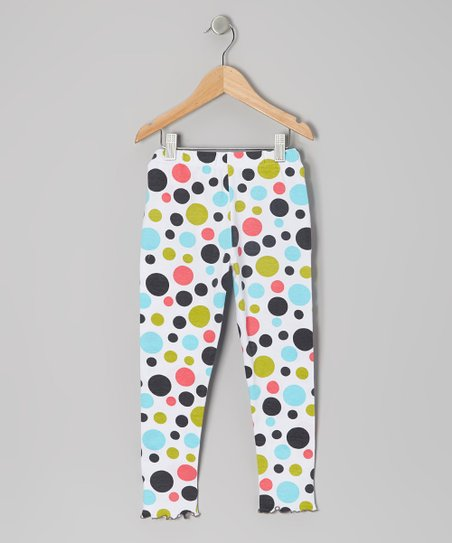 Bold Rainbow Polka Dot Leggings - Toddler & Girls