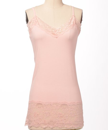 Light Pink Double Lace Camisole