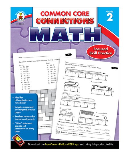 Math Common Core Connections Grade 2 Workbook