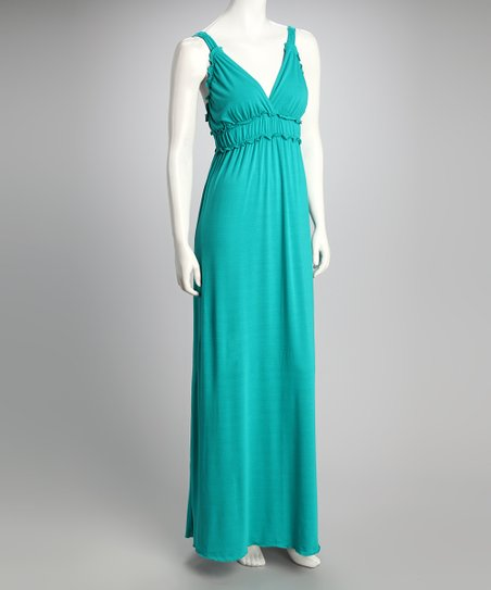 Aquamarine V-Neck Maxi Dress