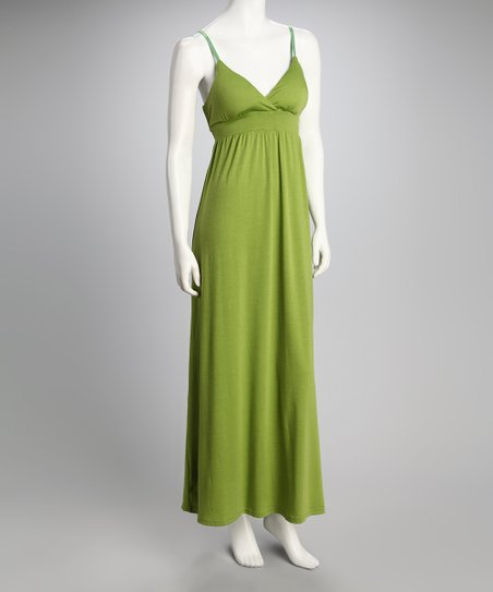 Avocado Sash Maxi Dress