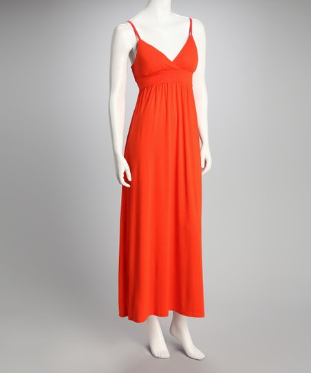 Cherry Tomato Sash Maxi Dress