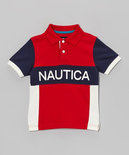 Red & Blue Jersey Polo - Toddler & Boys