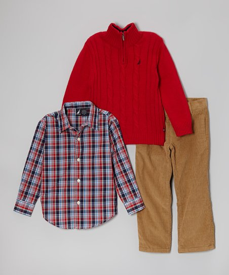 Cherry Pullover Set - Toddler & Boys