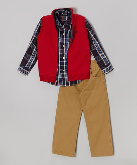 Cherry Zip-Up Vest Set - Toddler & Boys