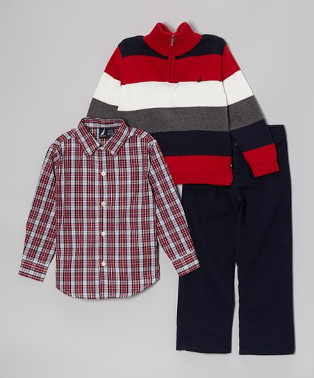 Cherry Stripe Pullover Set - Toddler & Boys