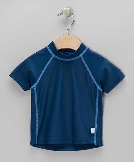 Navy Short-Sleeve Rashguard - Infant