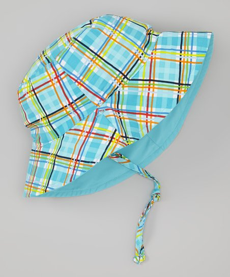 Aqua Plaid Bucket Hat