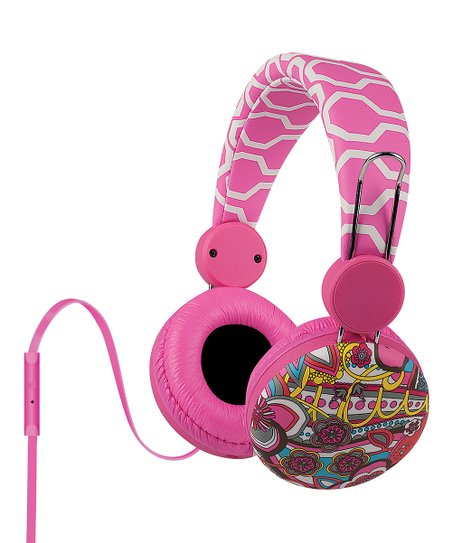 Hot Pink Dinah Over-Ear Headphones