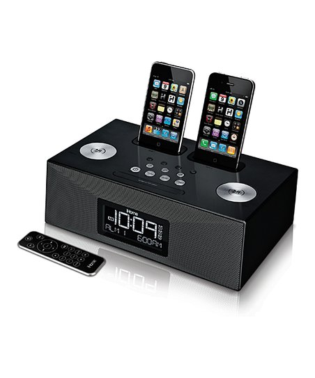 ihome dual dock alarm clock radio for your iphone ipod zulily. Black Bedroom Furniture Sets. Home Design Ideas