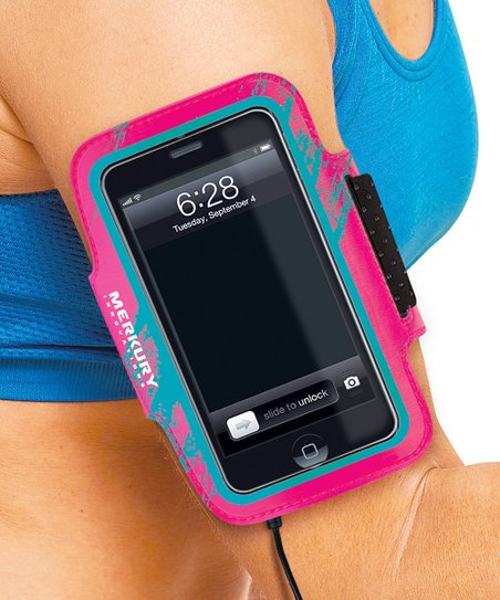 Pink Calligraphy Armband for iPod Touch 5 & iPhone 4/4S/5