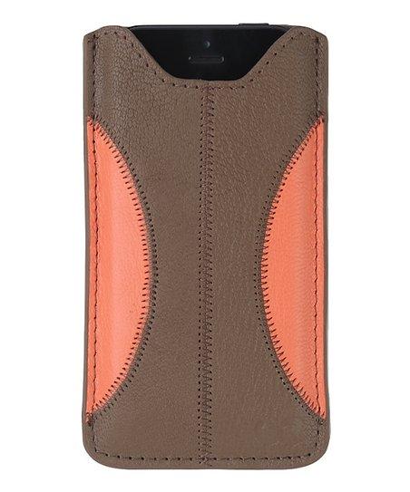 Bronze & Pink Hainan Phone Sleeve for iPhone 5