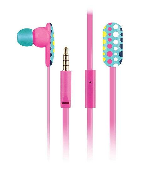 Poppy Dot Oval Earbuds