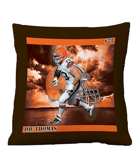 Cleveland Browns Joe Thomas Floor Pillow