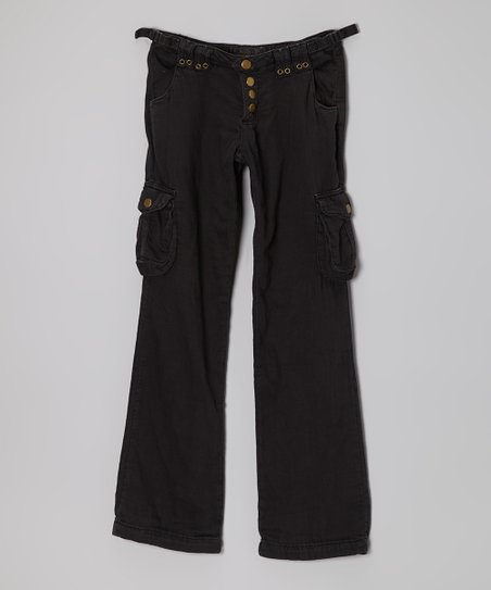 Black Flyer Woven Pants – Girls