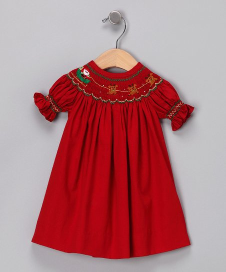 Red Santa Bishop Dress - Infant & Toddler