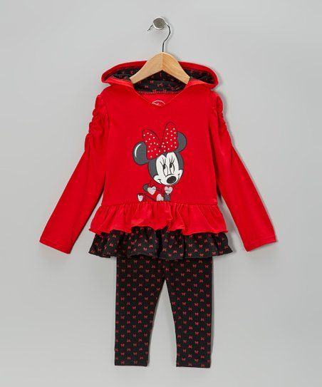 Red Polka Dot Minnie Hooded Tunic & Leggings