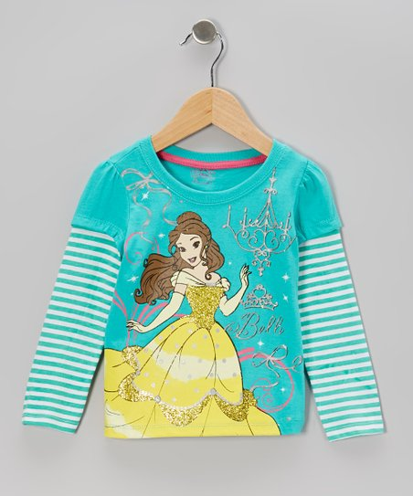 Aqua & Turquoise Disney Princess Layered Tee - Toddler