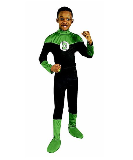 Black Green Lantern Dress-Up Outfit - Kids