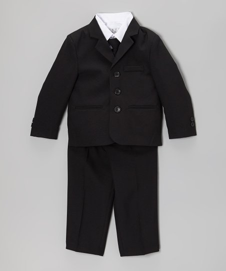 Black Five-Piece Suit Set – Infant, Toddler & Boys