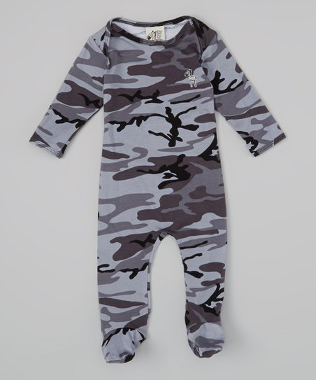 Gray Camo Footie