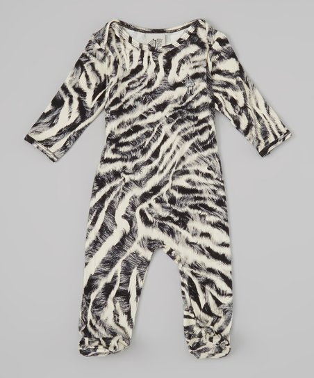 Gray Zebra Footie