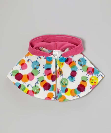 Rainbow Caterpillar Hooded Cape – Infant, Toddler & Girls