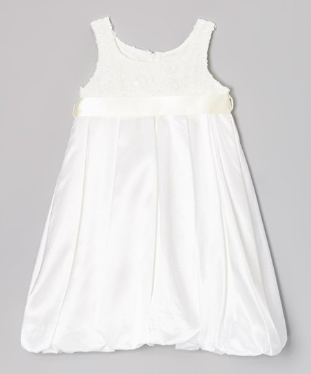 Ivory Sequin Bubble Dress – Toddler & Girls