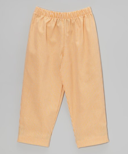 Orange Gingham Pants - Infant, Toddler & Boys
