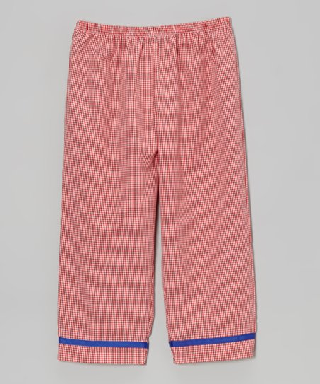 Red Gingham Pants - Toddler & Girls