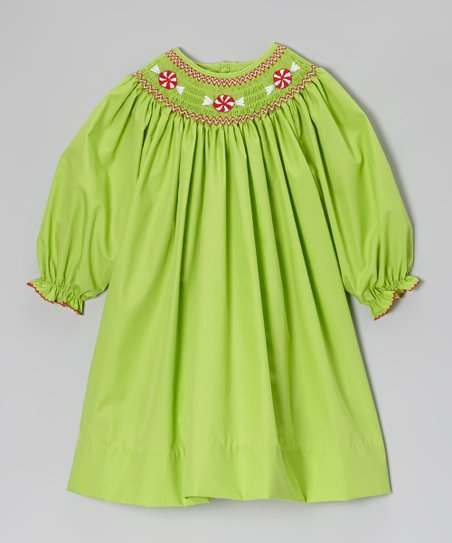 Lime Peppermint Bishop Dress - Infant