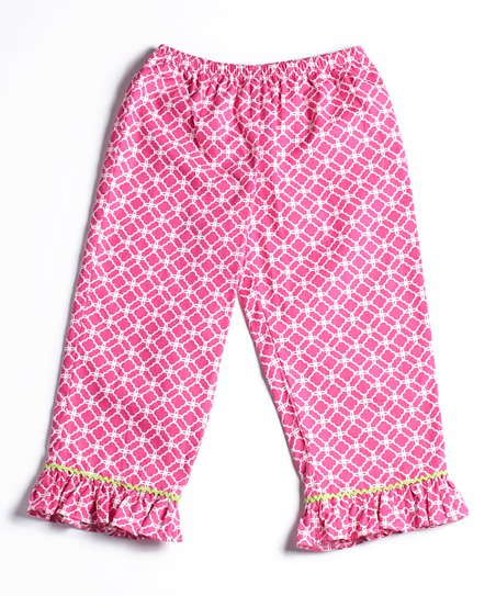 Pink Medallion Ruffle Pants – Infant & Toddler