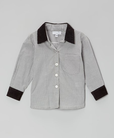 Black & White Gingham Button-Up - Infant, Toddler & Girls