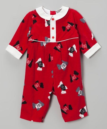 Red Scottie Playsuit - Infant