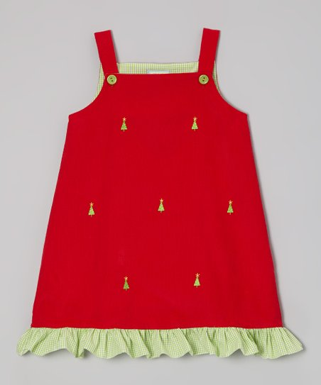 Red Ruffle Christmas Tree Jumper - Infant, Toddler & Girls