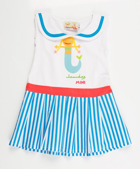 White Mermaid Sailor Dress - Infant, Toddler & Girls