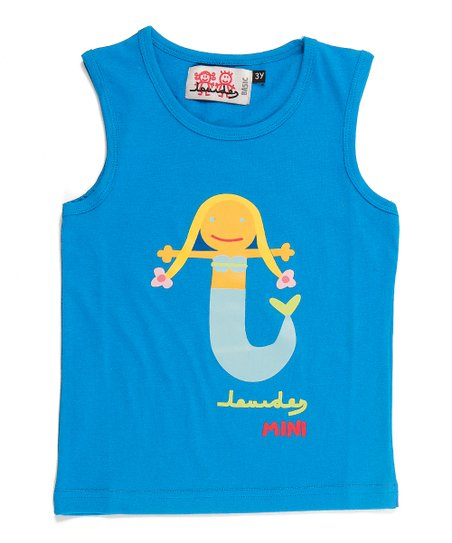 Turquoise Mermaid Tank - Infant, Toddler & Girls