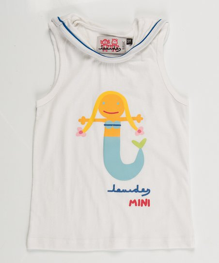 White Mermaid Top - Toddler & Girls