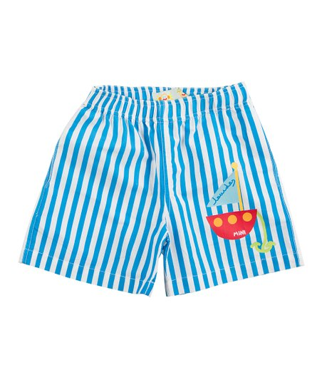 Blue Stripe Shorts - Infant & Boys