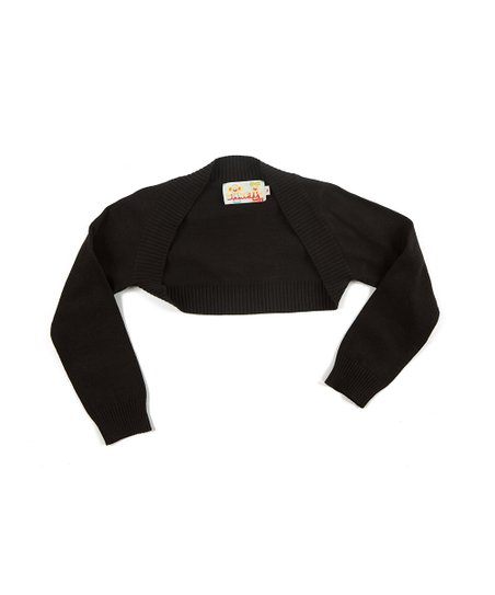 Black Rebeca Bolero - Infant, Toddler & Girls
