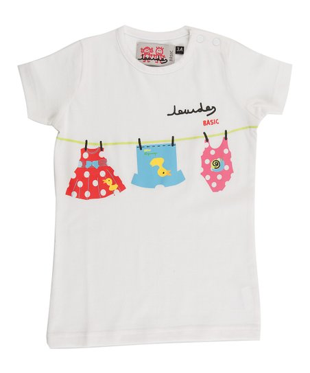 White Clothesline Tee - Infant, Toddler & Girls