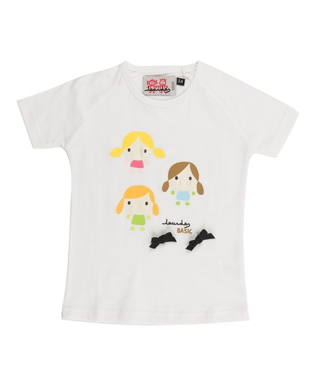 White Bow Tee - Infant, Toddler & Girls