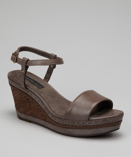Dark Brown Sandrine Wedge Sandal